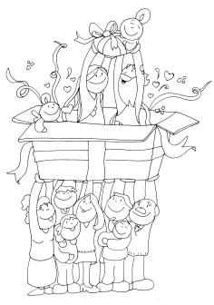 navidad-familia-regalo-bn